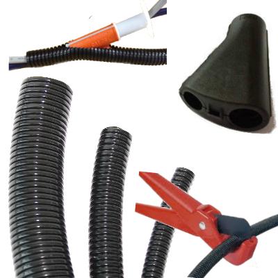 Flexible Conduit / Convoluted Tubing & Fixings