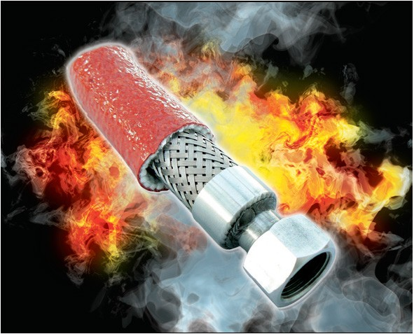 PYROJACKET / PYROSLEEVE Firesleeve PGH.20/ROS - Silicone Coated Glass Fibre Sleeving