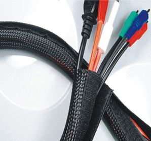 Hook & Loop brand Braided Flexo Cable Wrap Hook & Loop Sleeving