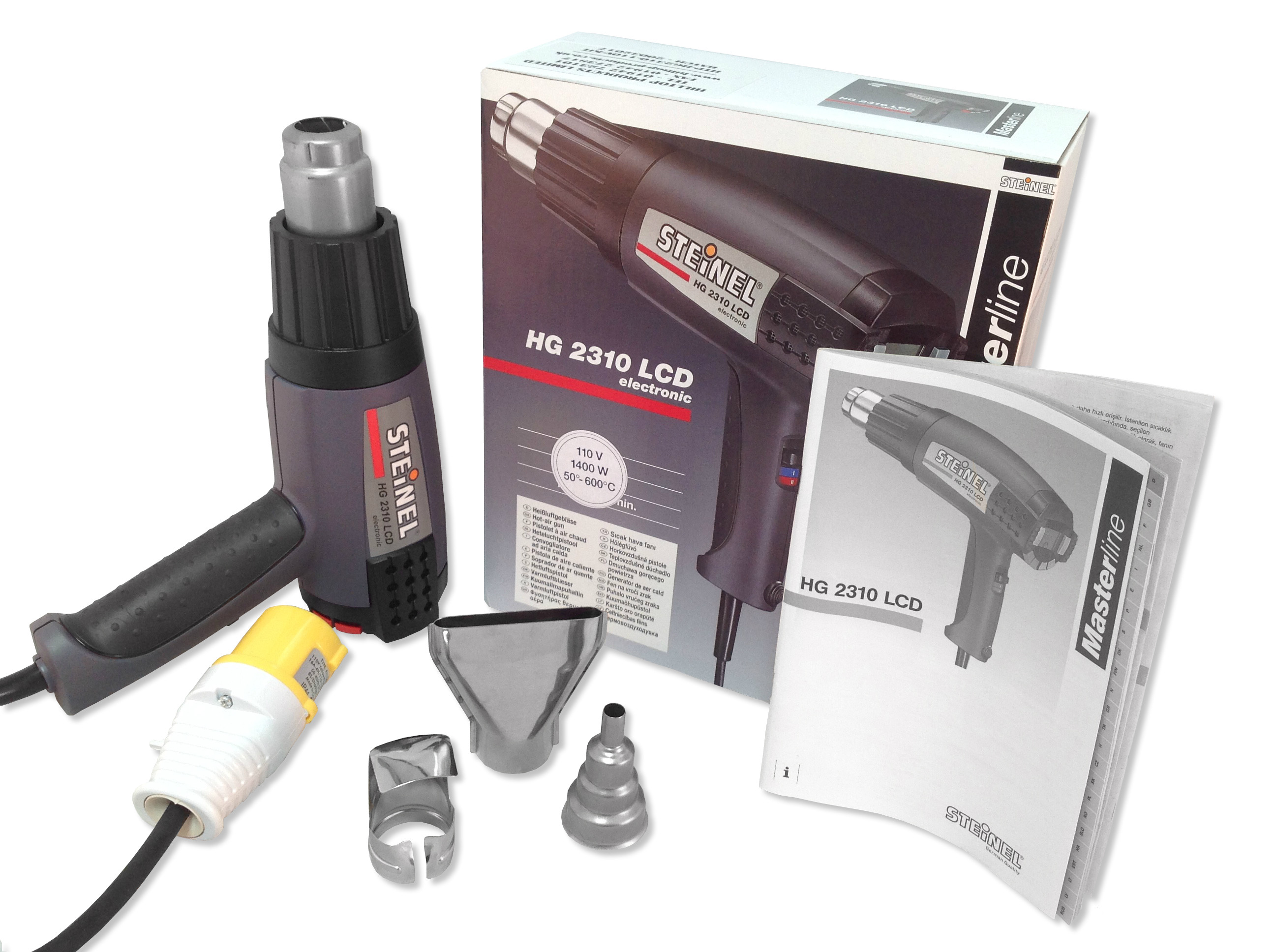 Steinel HG 2310 LCD KIT 110V - with 3 Nozzles