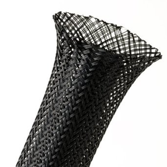 Expandable Braided Sleeving PG 60mm - Covering 50mm-80mm Black