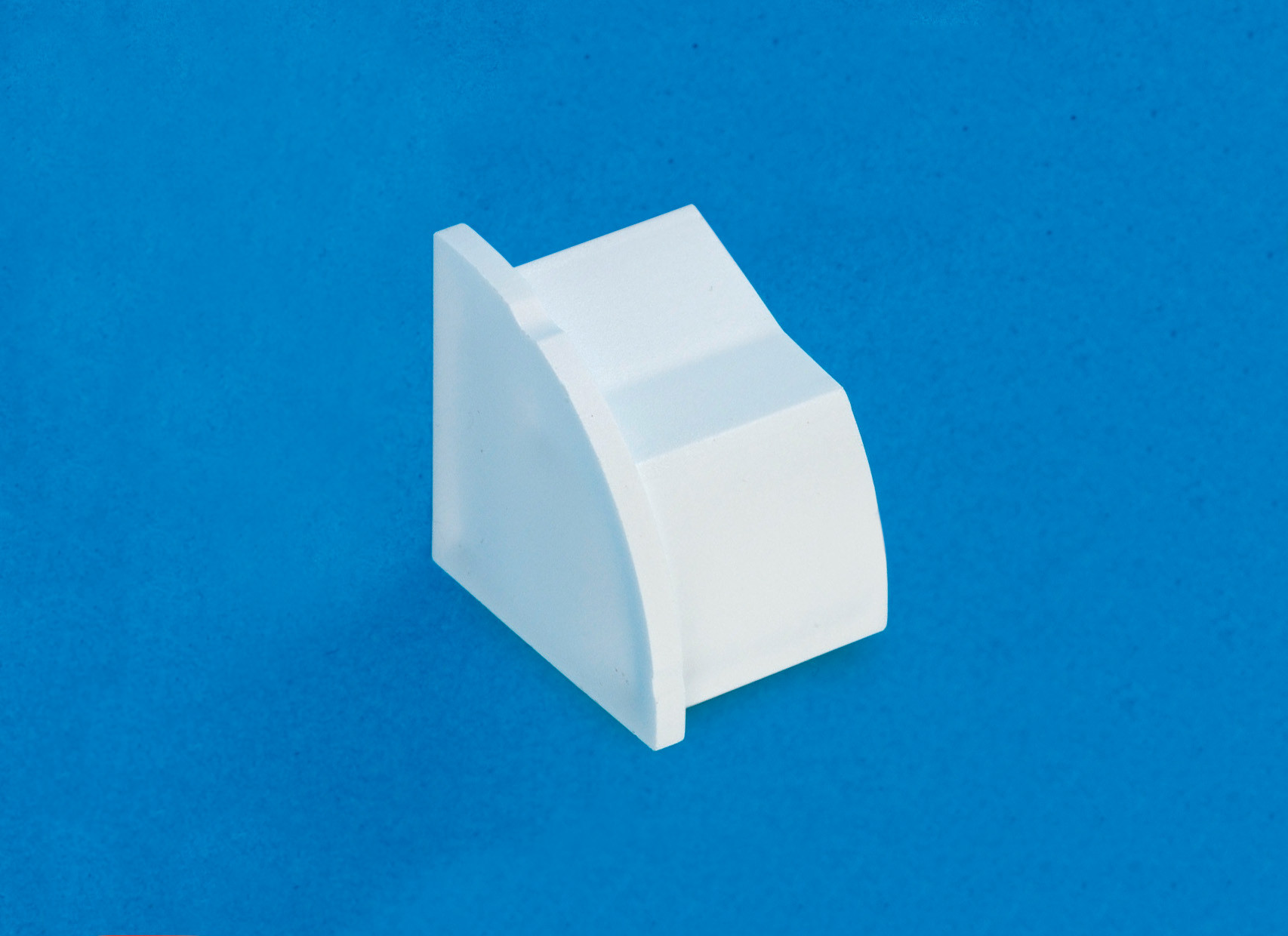 22 x 22mm Smooth-fit End Cap (Left) White