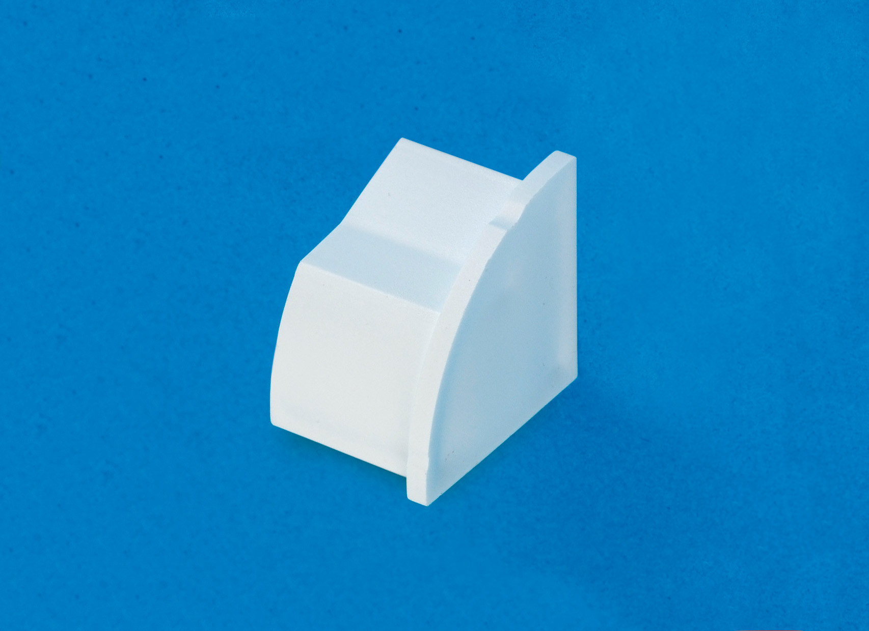 22 x 22mm Smooth-fit End Cap (Right) White