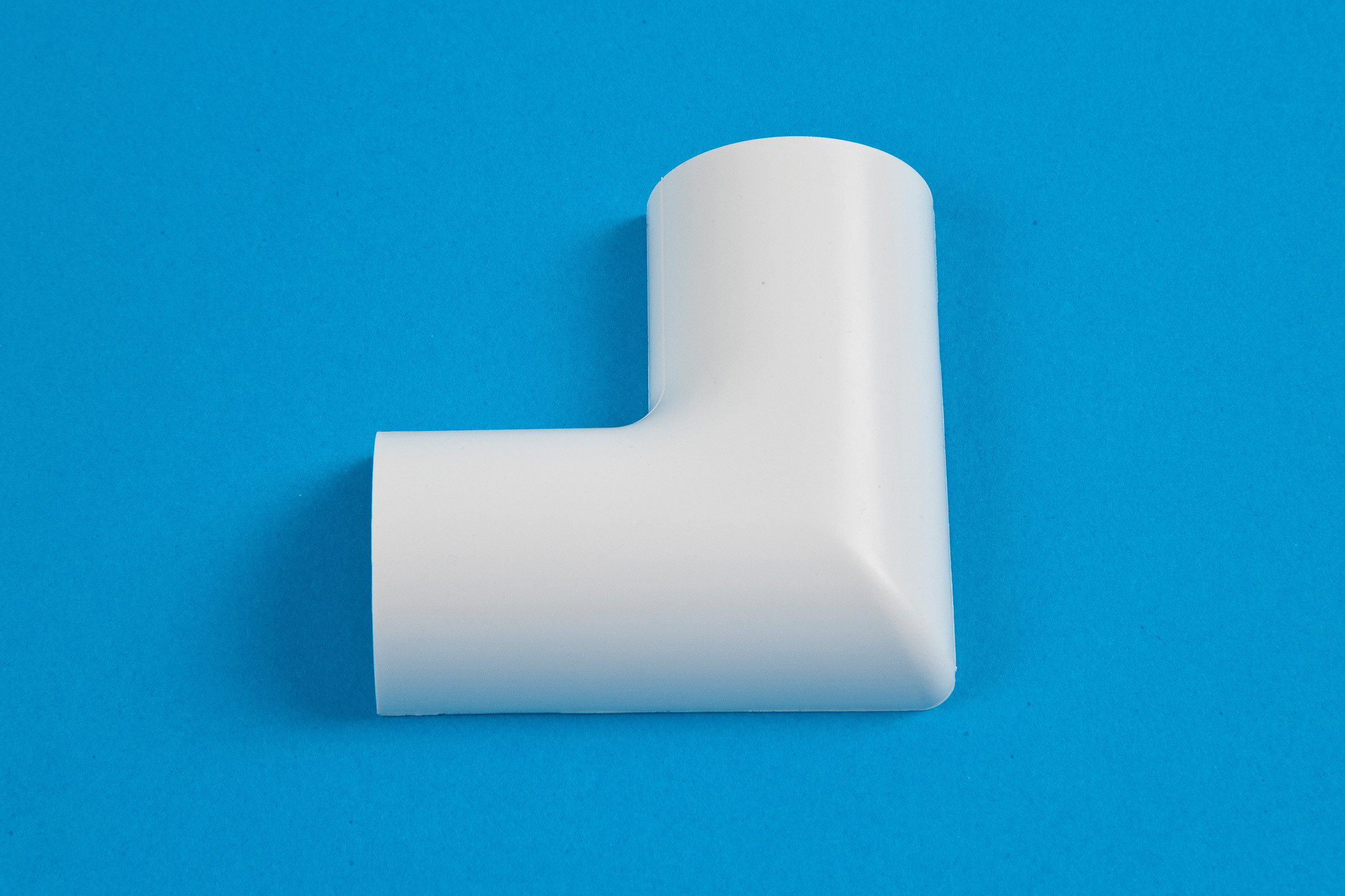 30 x 15mm Clip-Over Flat Bend White