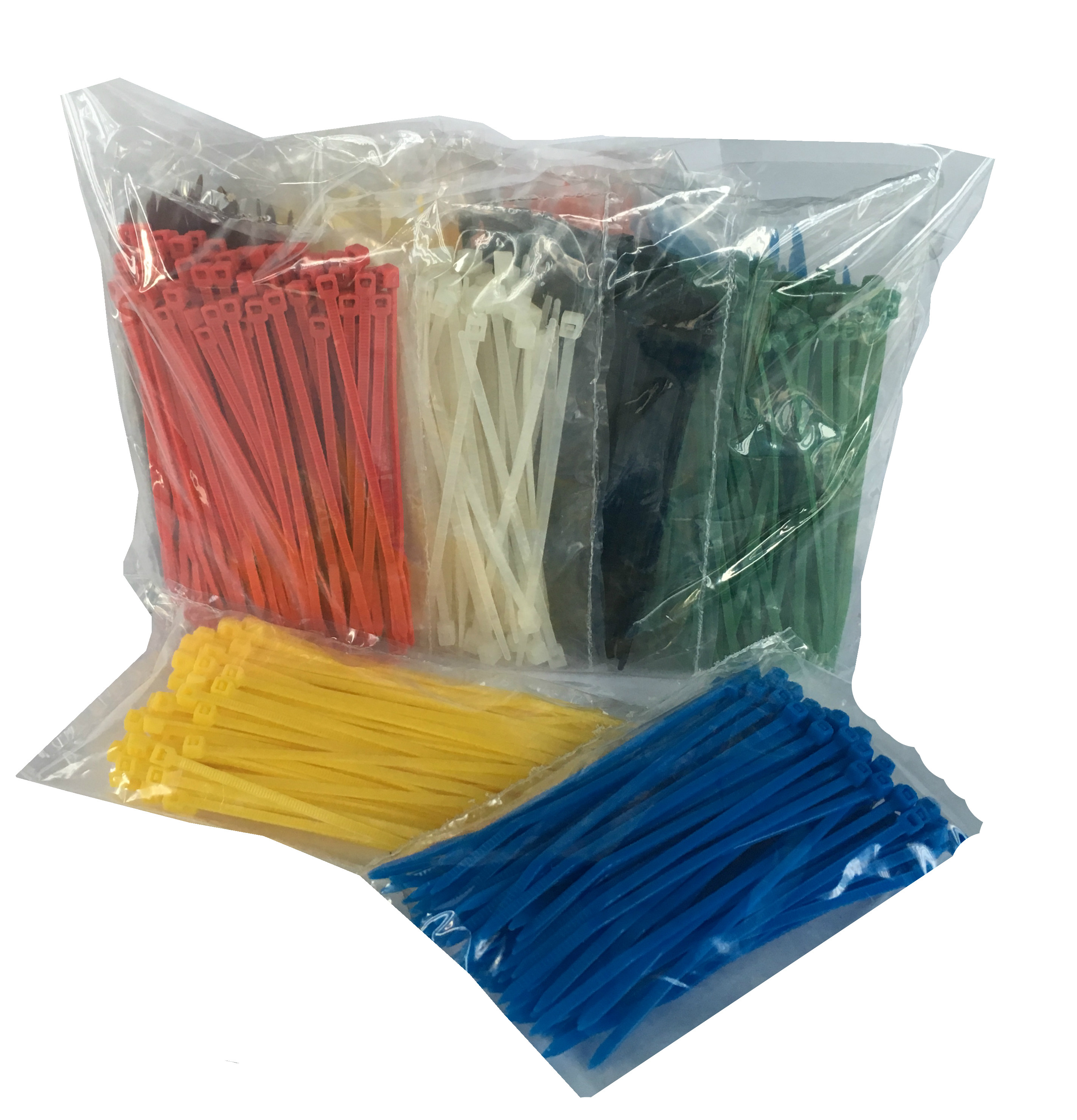 TR1 Rainbow Cable Tie Pack Size 100mm x 2.5mm