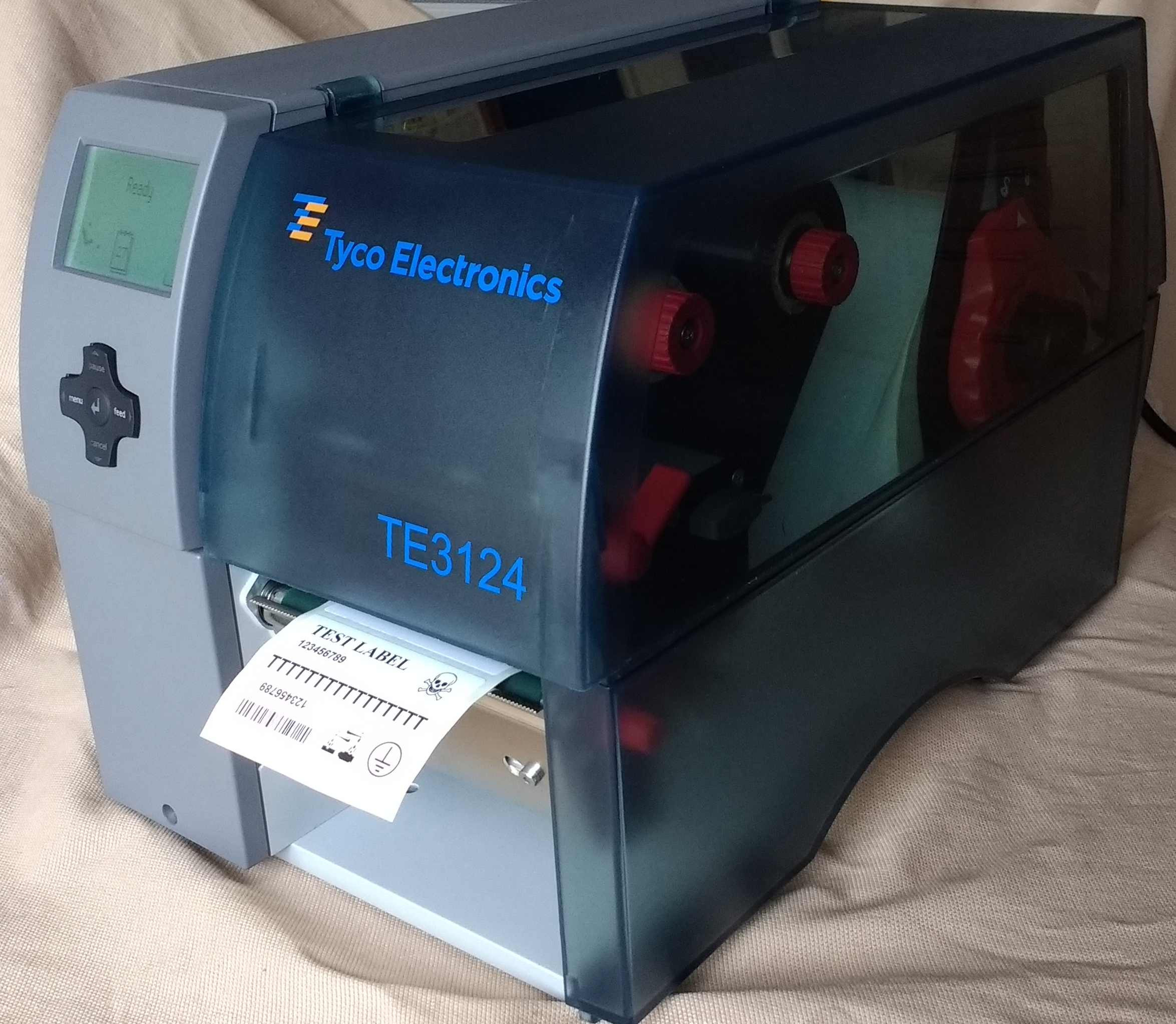 TE Connectivity TE3124 600dpi Thermal Transfer Printer with Wintotal Software (USED130)