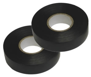 PVC Loom Tape - 19mm Black Non Adhesive