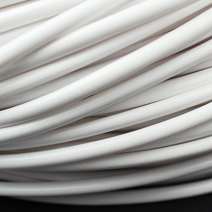 4.0mm PVC Sleeving x 0.5mm Wall Glossy WHITE