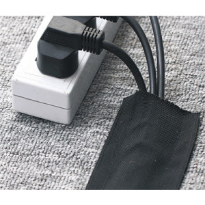 Floor Cable Cover Hook & Loop Carpet Wrap - 76mm Wide x 0.7mm Wall