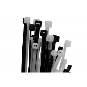 1,000pc Black/Natural Cable Tie Bundle Kit - 5 Sizes in 2 Colours