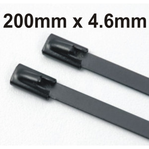 Stainless Steel Cable Ties Coated size 200 x 4.6mm