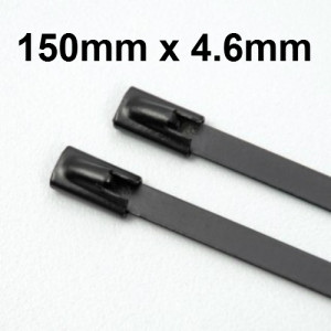 Stainless Steel Cable Ties Coated size 150 x 4.6mm