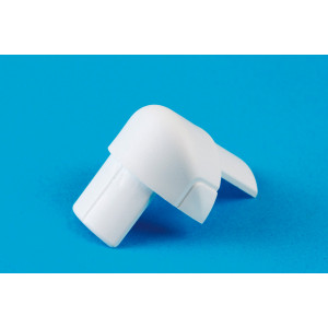 16 x 8mm Smooth-fit External Bend White