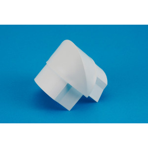 50 x 25mm Smooth-fit External Bend White