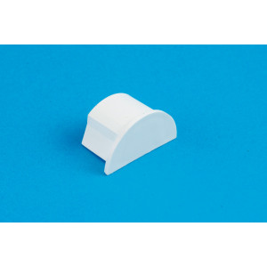 30 x 15mm Smooth-fit End Cap White