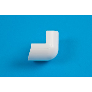30 x 15mm Clip-Over External Bend White