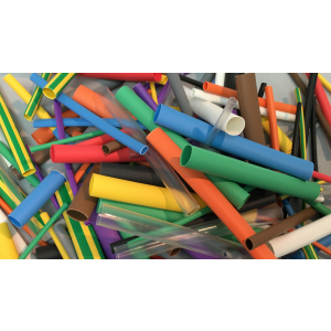 Ultimate Mixed Heat Shrink Kit 144pcs Various Colours - 65mm lengths