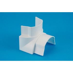 50 x 25mm Smooth-fit Internal Bend White