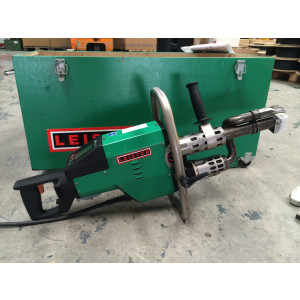 Leister WELDPLAST S6 Hand Extruder with 5 Welding Shoes, Extra Nozzle & Original Case USED065