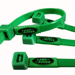 Land Rover Printed Cable Ties in Land Rover green