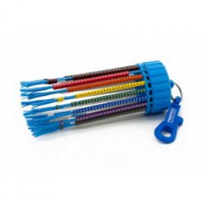 Cable Marking Keyring Dispenser, Colour Coded HZ Markers