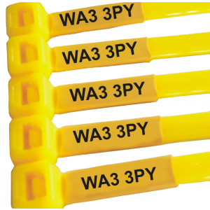 Printed Cable Ties with Post Codes