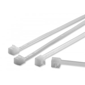 Hellermann RELK2R Polyamide Releasable Cable Ties Natural 200mm x 4.6mm
