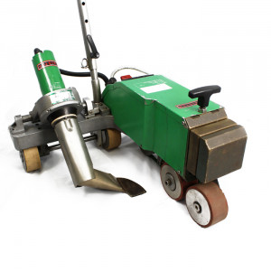 """Leister Varimat V 240V Roof Welding Machine """"Walking Dog""""  with Guide Handle and Weights (USED173)"""