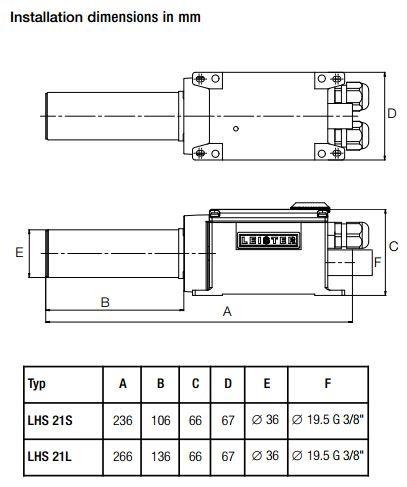 LHS 21 Dimensions