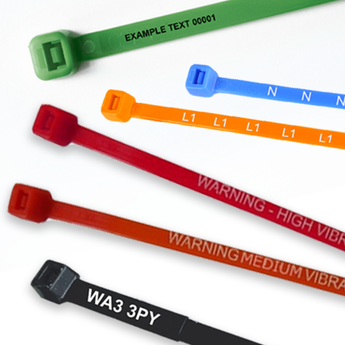 Range of Printed Cable Ties