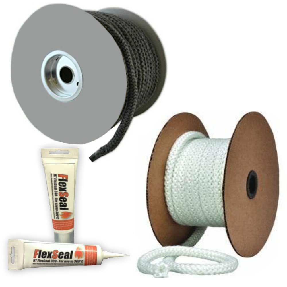 Fire Sealing Stove Rope - THERMOSEAL Thermal Glass Fire Rope