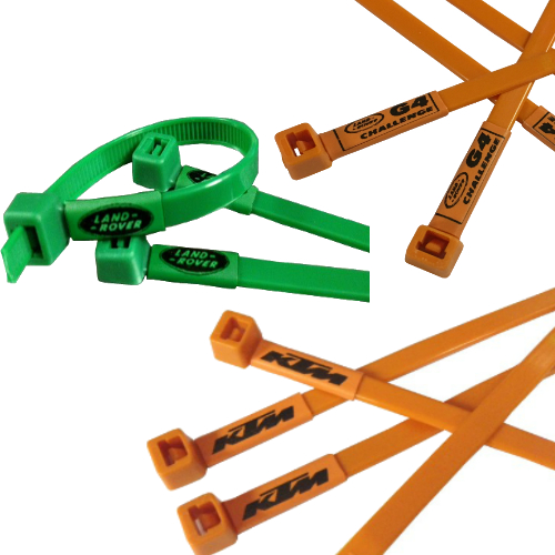 KTM Motorcycle, Land Rover and Jeep Printed Cable Ties