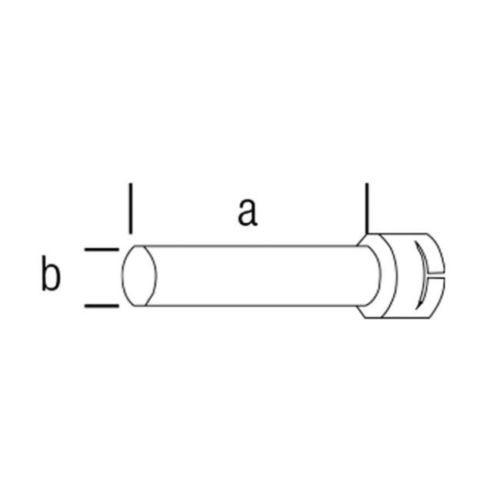 107.255 - Extension tube ø 50.5 mm, 160 x ø 36.5 mm