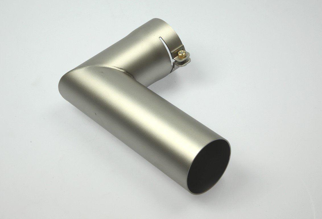 107.256 - Tubular nozzle ø 50.0 mm, 106 x 162 mm, 90° angled