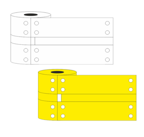 Tie-On Tip Tag Markers size 25mm x 80mm None Marking Yellow