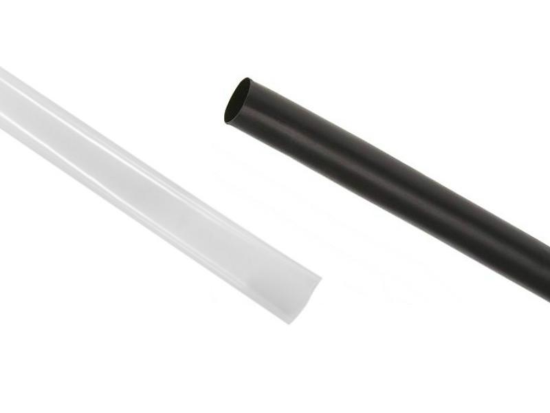 "RNF-100 size 1/8"" (3.2/1.6mm) Premium Heat Shrink Black & Clear"