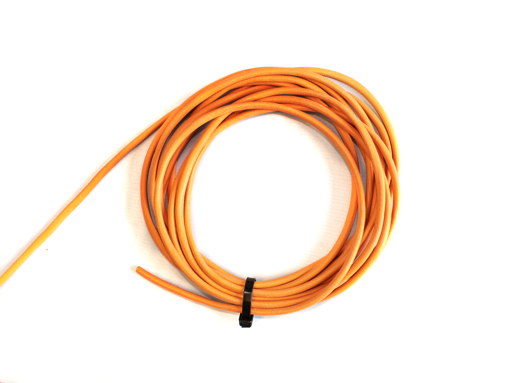 Orange Neoprene Tubing