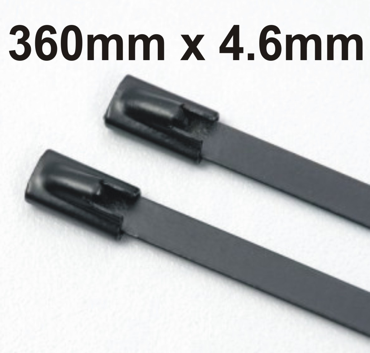 Stainless Steel Cable Ties Coated  360mm x 4.6mm