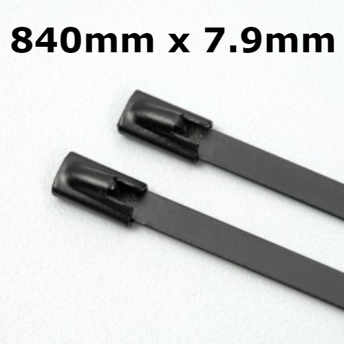 Stainless Steel Cable Ties Coated 840mm x 7.9mm