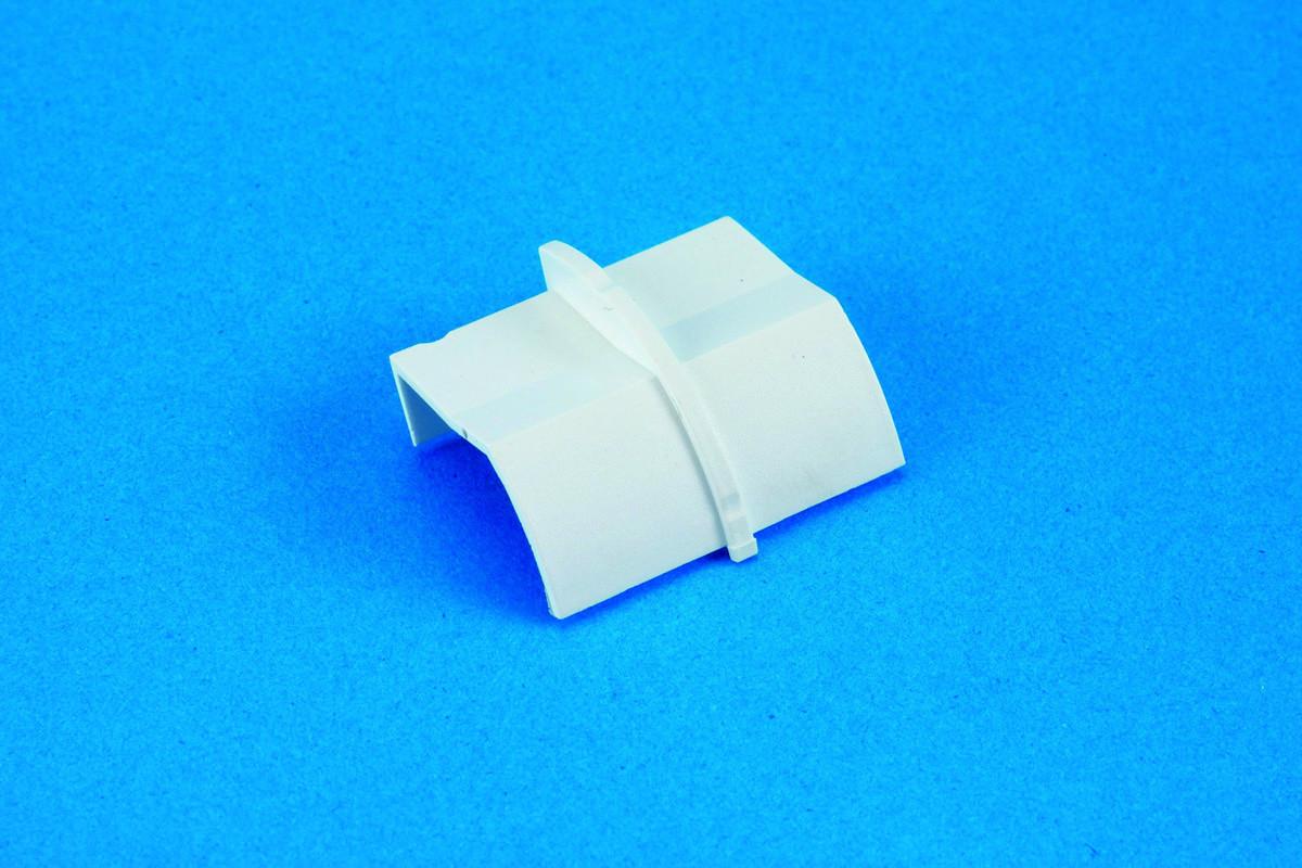 22 x 22mm Clip-Over Plain Coupler White