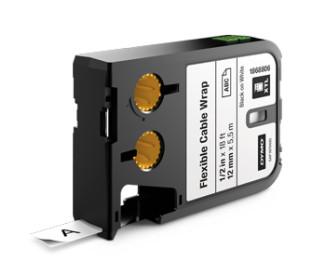 "DYMO XTL Nylon Tape - size 12mm - 1868806 (0.5"") Black on White"