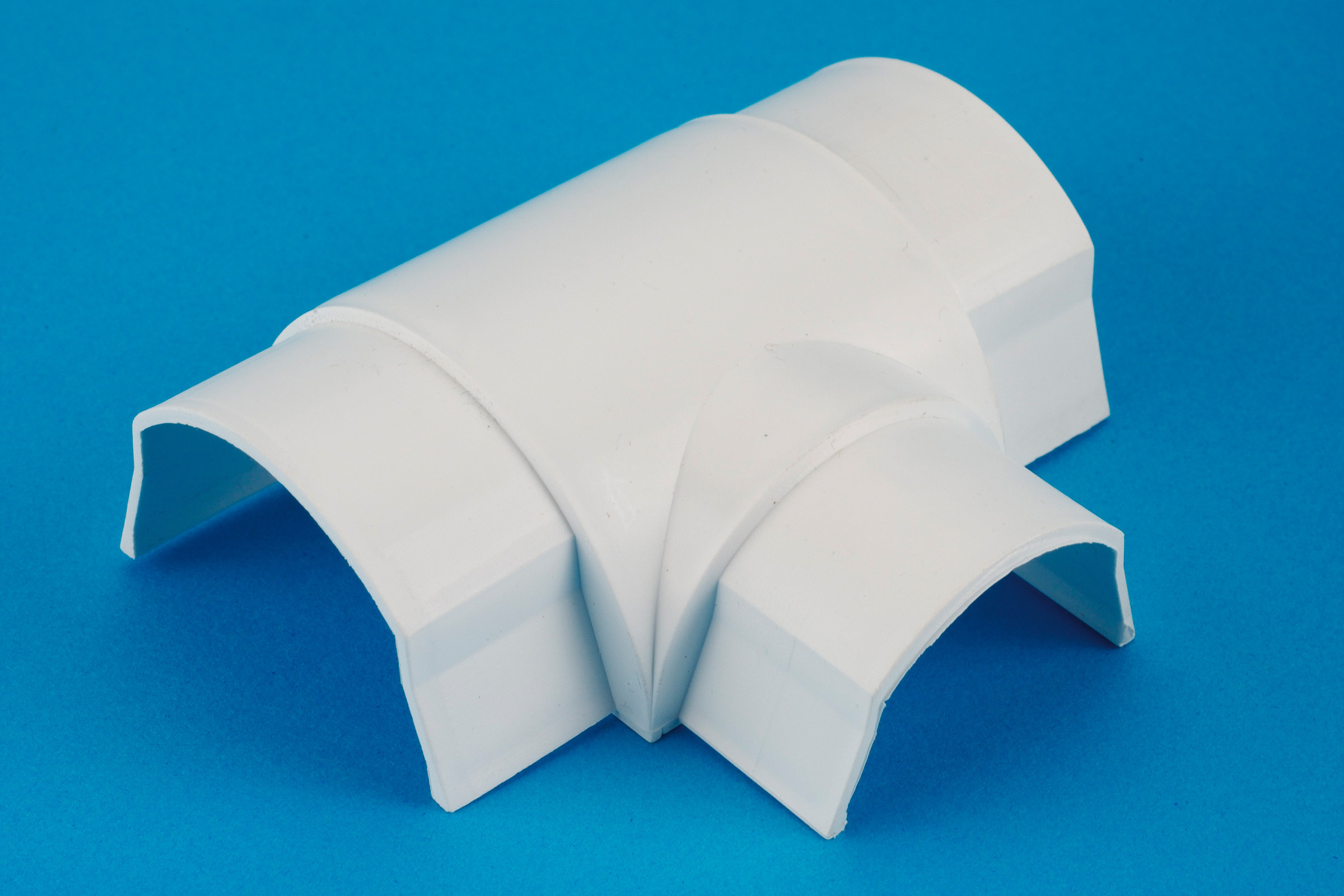 50 x 25mm Smooth-fit Equal Tee White
