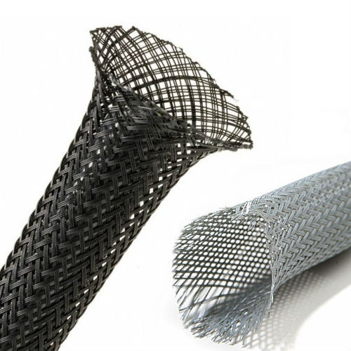 Expandable Braided Sleeving PG 40mm - Covering 30mm-50mm Grey