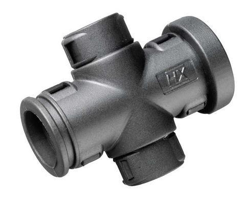 Conduit External Hinged X-Piece size 12 x 8mm