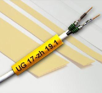 Flat Printable Zero Halogen Heat Shrink Tubing - ZH201B 9.5mm Yellow
