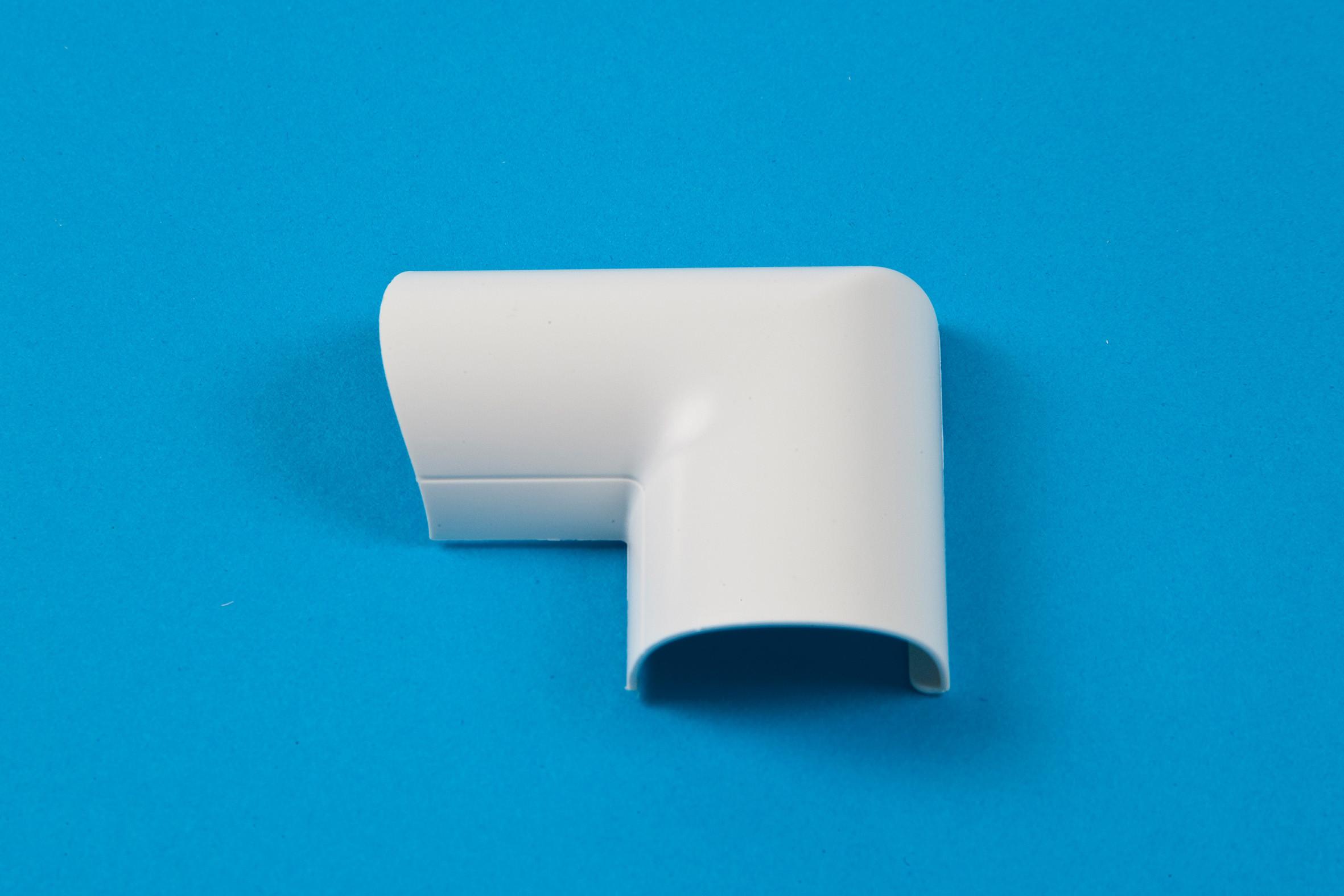 30 x 15mm Clip-Over Door Top Bend White
