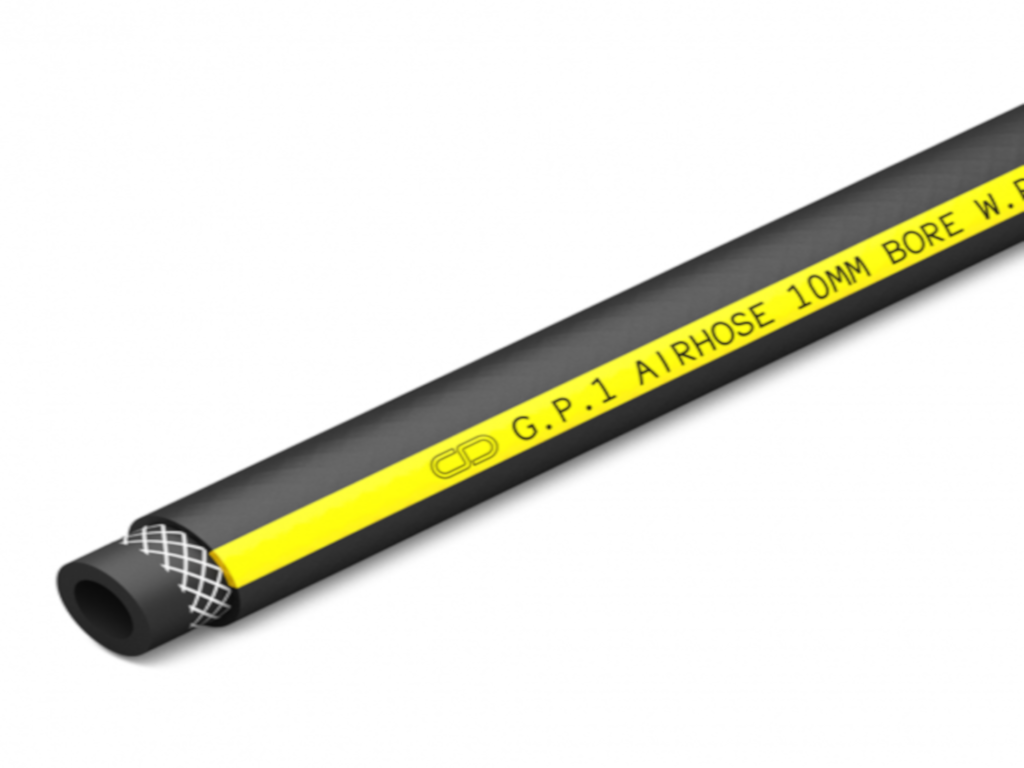 GPA Range Compressed Air Hose - Black/Yellow