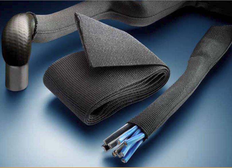 HFT5000 Heat Shrinkable Woven Fabric Tubing