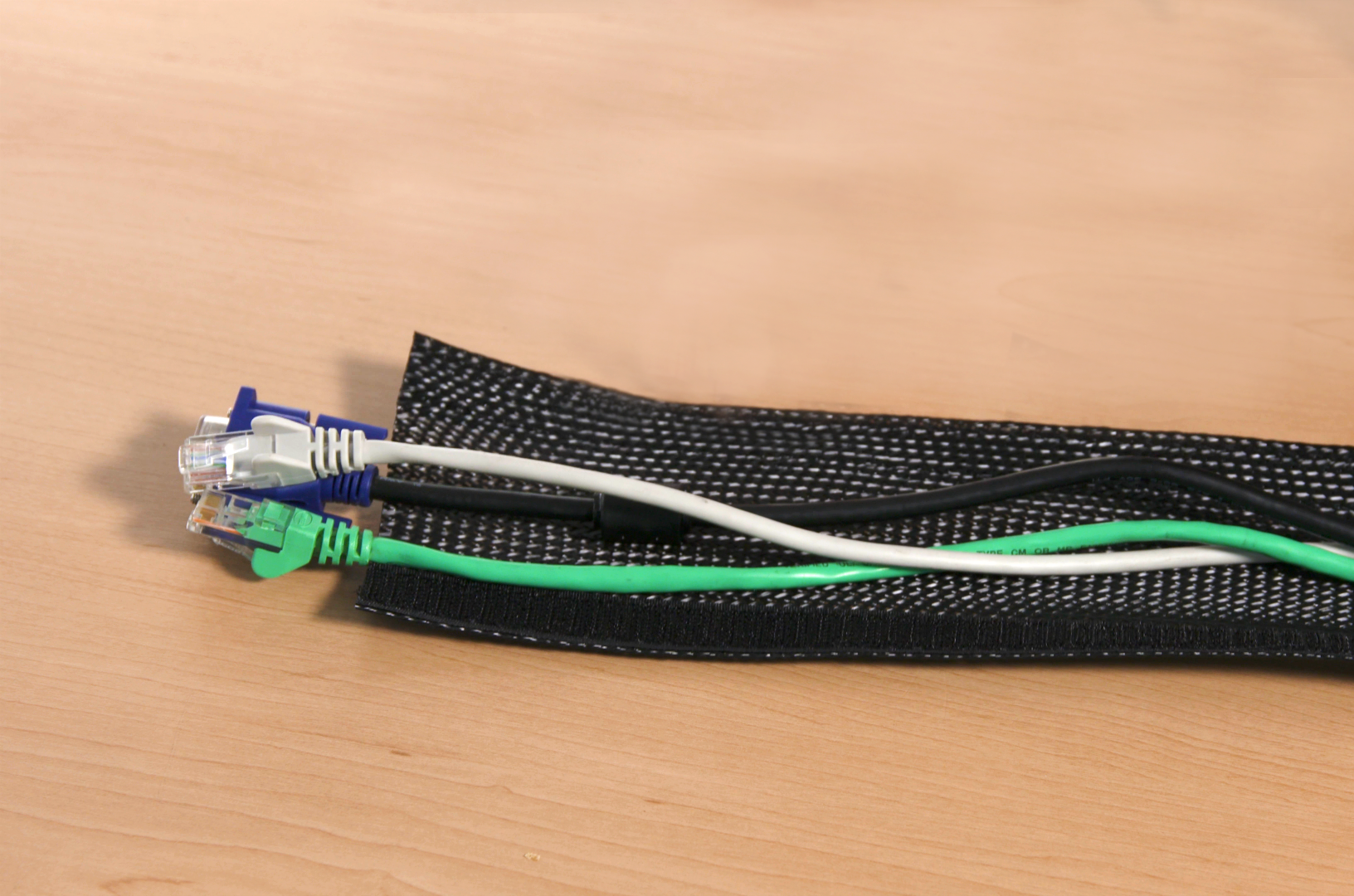 Hook & Loop Braided Flexo Cable Wrap Open
