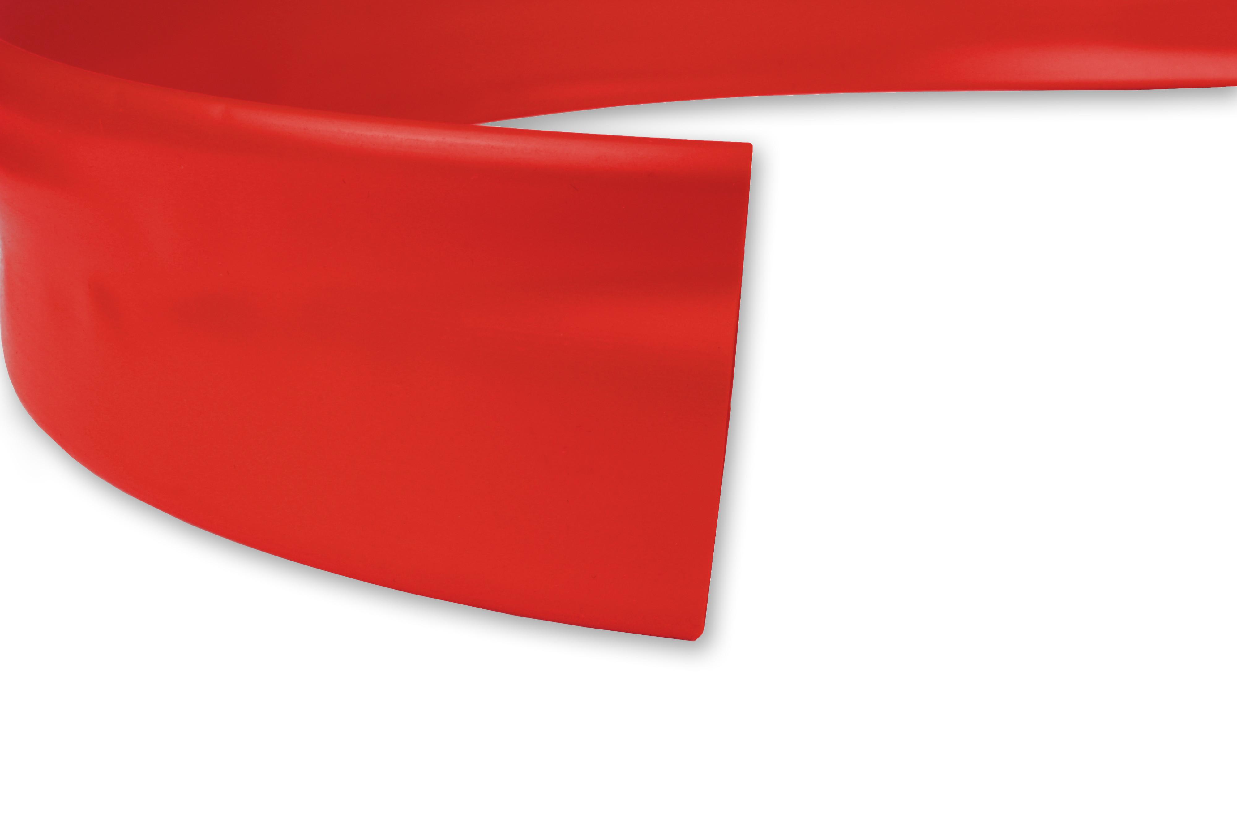 PVC Heat Shrink Tubing HPV Size 38.1mm I.D / 19.0mm I.D Red